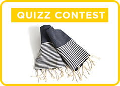 Win a white and blue fouta in cotton.